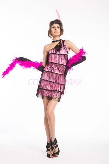 Picture of 1920's Charleston Flapper Dress - Pink
