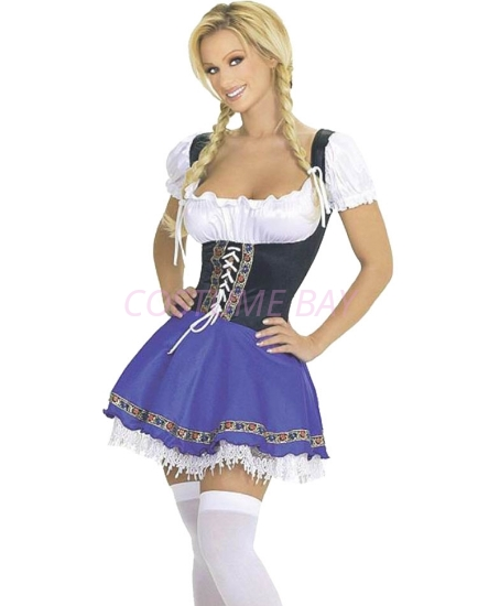 Picture of Oktoberfest German Bavarian Beer Wench Maid Costume Dress