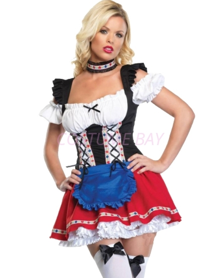 Picture of Oktoberfest Role Play German Beer Maid Costume Dress