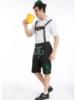 Picture of Mens Lederhosen Oktoberfest Bavarian German Beer Costume Black