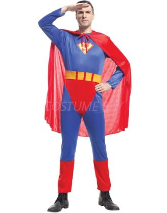 Picture of Men's Superhero Superman Man of Steel Costume Jumpsuit
