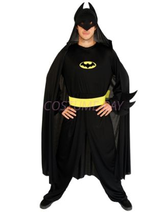 Picture of Men's Superhero Batman Dark Knight Costume Jumpsuit
