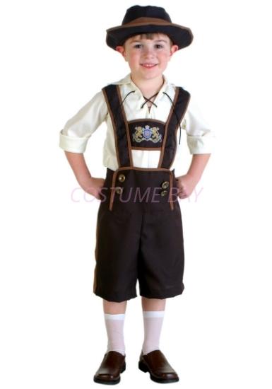 Picture of Boys Lederhosen Oktoberfest Costume Book Week