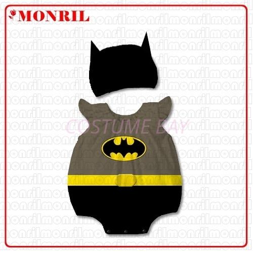 Picture of Baby Rompers Onesie Bodysuit with Hat -Batman