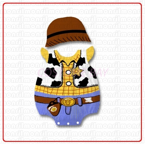 Picture of Baby Rompers Onesie Bodysuit with Hat - Woody