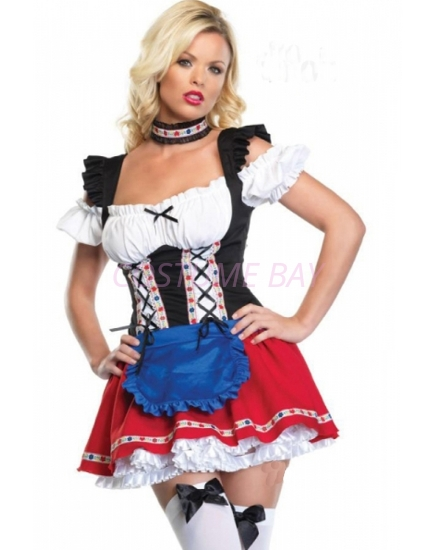 Picture of Ladies Oktoberfest Bavarian Beer Maid Costume