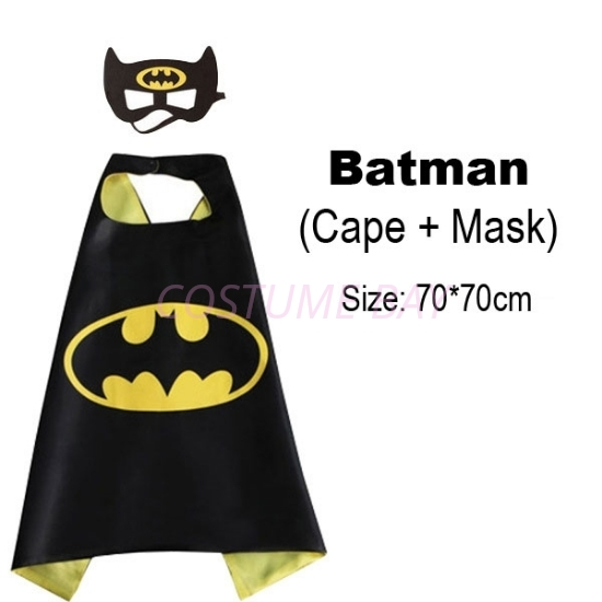 Picture of Kids PJ Superhero Cape &  Mask Set - Batman