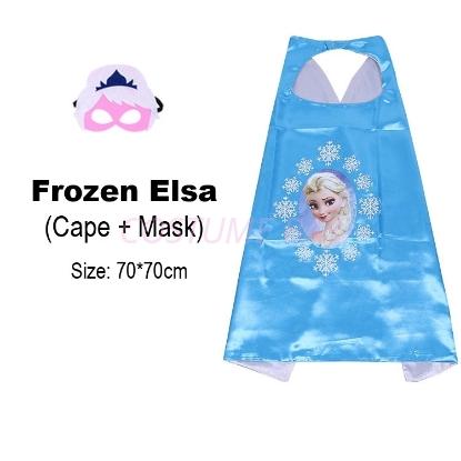 Picture of Kids PJ Superhero Cape &  Mask Set - Princess Elsa