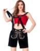Picture of Ladies Oktoberfest Bavarian Beer Maid Short - Black