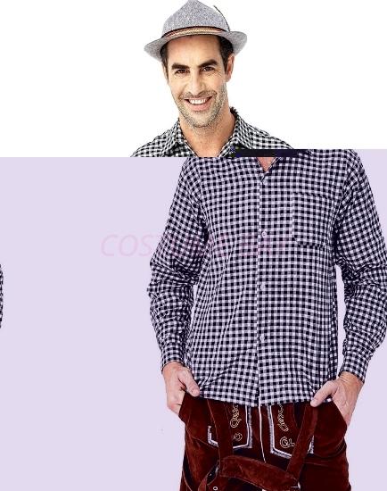 Picture of Bavarian Guy Mens Lederhosen Shirt - Black