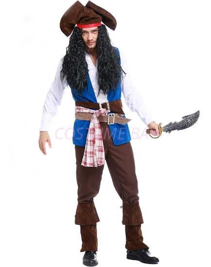Picture of Halloween Captain Sparrow Mens Pirates Costume