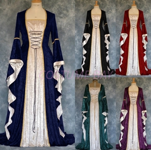 Picture of Womens Medieval Game Thrones Gothic Renaissance Gown Costume