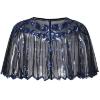 Picture of Vintage Boutique Beaded Sequin Flapper Cape - Beige