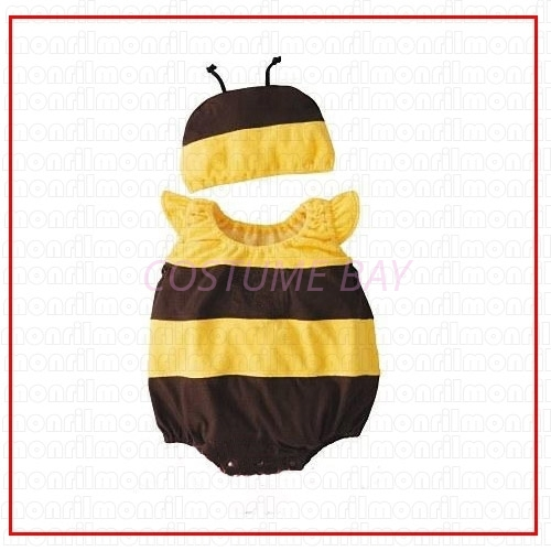 Picture of Baby Rompers Onesie Bodysuit with Hat - Bee