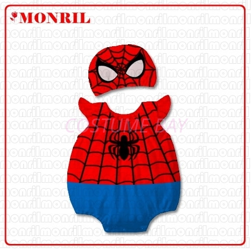 Picture of Baby Rompers Onesie Bodysuit with Hat - Spiderman