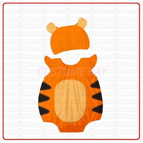 Picture of Baby Rompers Onesie Bodysuit with Hat - Tigger