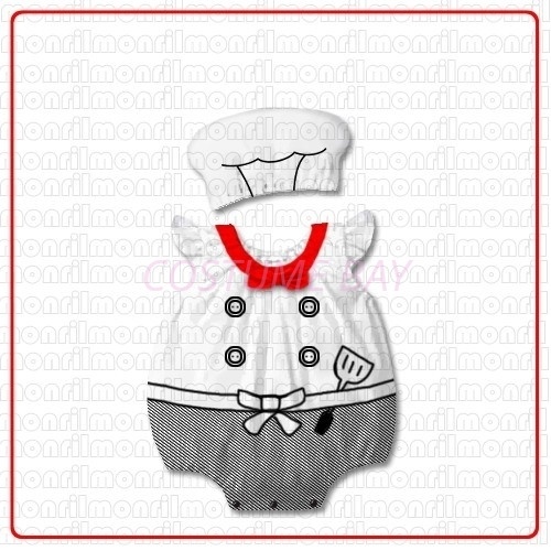 Picture of Baby Rompers Onesie Bodysuit with Hat -Chef