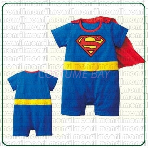 Picture of Baby Rompers Onesie Bodysuit with Hat - Superman