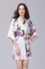 Picture of Women Floral Satin Kimono Robes - Navy