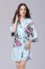 Picture of Women Floral Satin Kimono Robes - Blue
