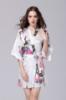 Picture of Women Floral Satin Kimono Robes - White