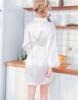 Picture of Women Bridemaid  Satin Kimono Robes - White