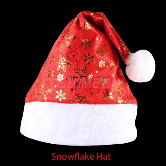 Picture of Santa Claus Snowflake Christmas Hat