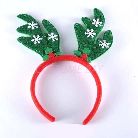 Picture of Christmas Green Reindeer Antlers Headband