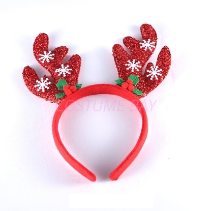 Picture of Christmas Red Reindeer Antlers Headband