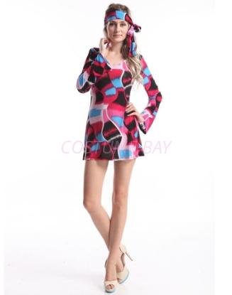 Picture of Woman Retro Hippie-001 BluePurple