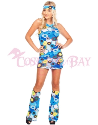 Picture of Woman Retro Hippie-002 Blue