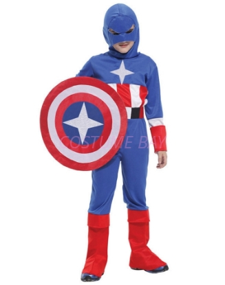 Picture of Boys Superhero Captain America Costume