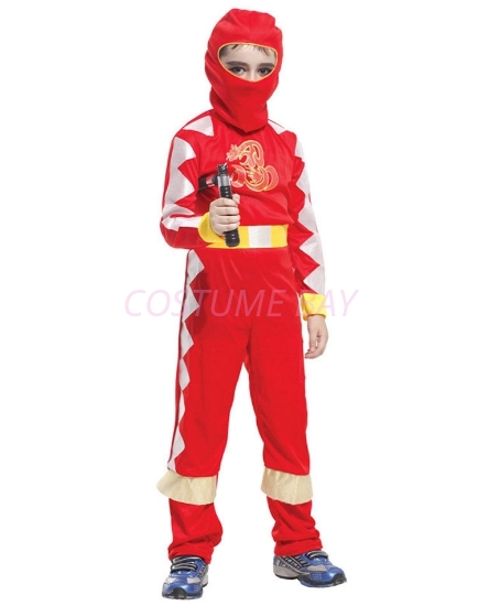 Picture of Boys Superhero Ninja Costume -Red