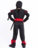 Picture of Boys Superhero Black Ninja Costume for Book Week