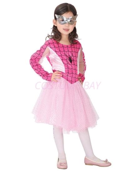 Picture of Girls Spidergirl Superhero Costume -Pink