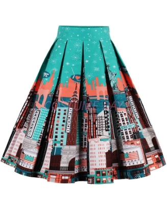 Picture of Xmas 50s 60s Vintage Rockabilly Swing Skirt - Skirt City