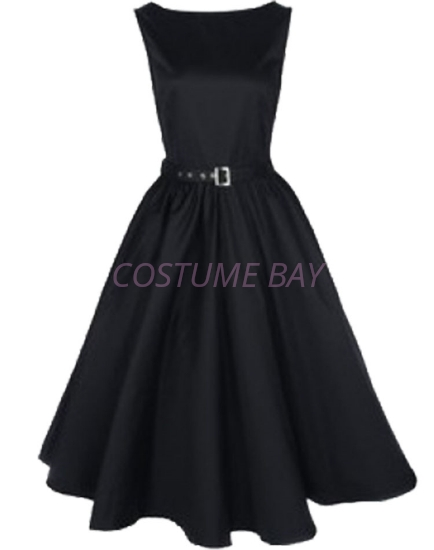Picture of Rockabilly 50s 60s Vintage Evening Retro Pinup Swing Cocktail Dress-Black
