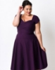 Picture of Rockabilly 50s 60s Vintage Evening Retro Pinup Swing Cocktail Dress-Plus Size Purple