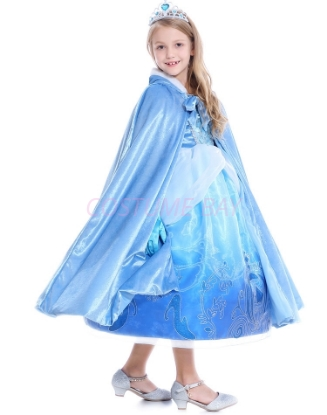 Picture of Cinderella Elsa Princess Hooded Cape for Book Week