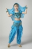 Picture of Girl's Belly Dance Outfits Paillette Ruffles Short Sleeves -Light Blue