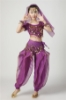 Picture of Girl's Belly Dance Outfits Paillette Ruffles Short Sleeves -Yellow