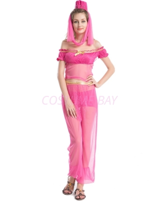 Picture of Womens  Aladdin Belly Dance Fancy Dress -Pink