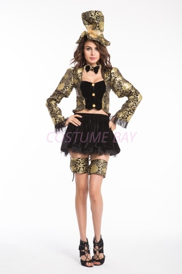 Picture of Deluxe Women's Mad Hatter Dress Costume