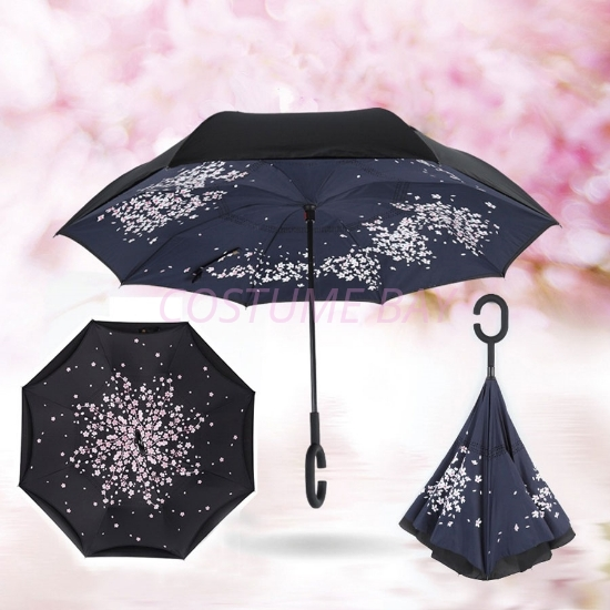 Picture of Upside Down Reverse Umbrella - Cherry Blossom