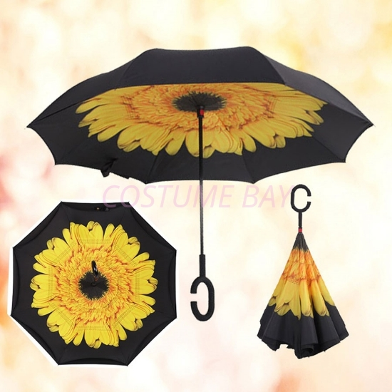 Picture of Upside Down Reverse Umbrella - Sunflower