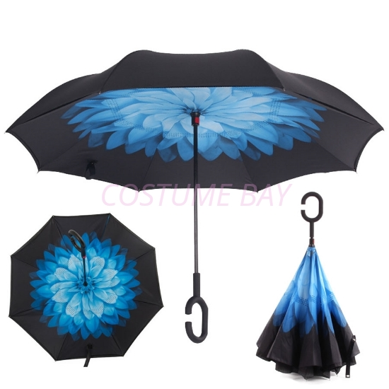 Picture of Upside Down Reverse Umbrella - Night Snow